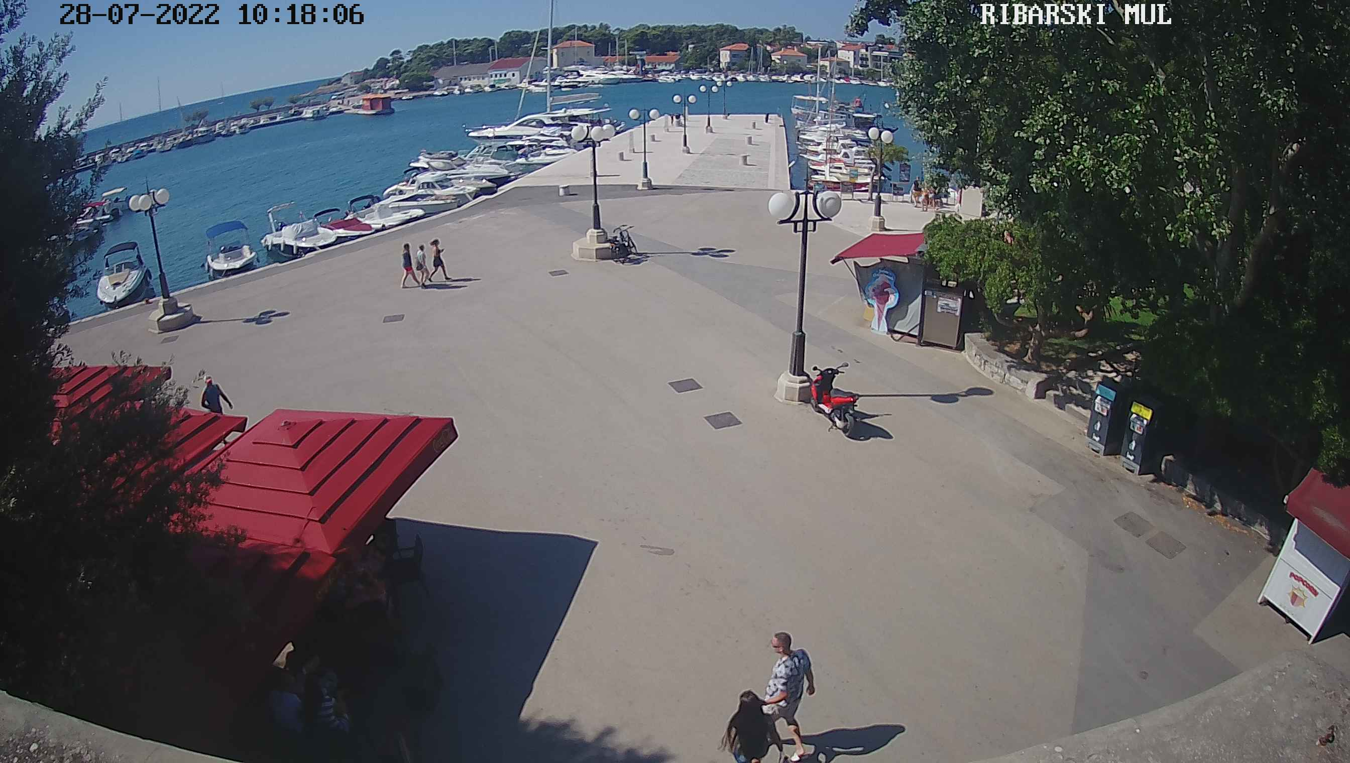Krk port square live webcam