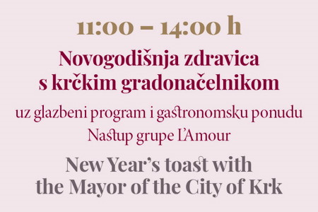 Zdravica krčkog gradonačelnika i doček Nove godine!
