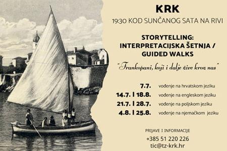 """""""Frankopani, koji i dalje žive kroz nas"""" - besplatne interpretacijske šetnje gradom Krkom"""